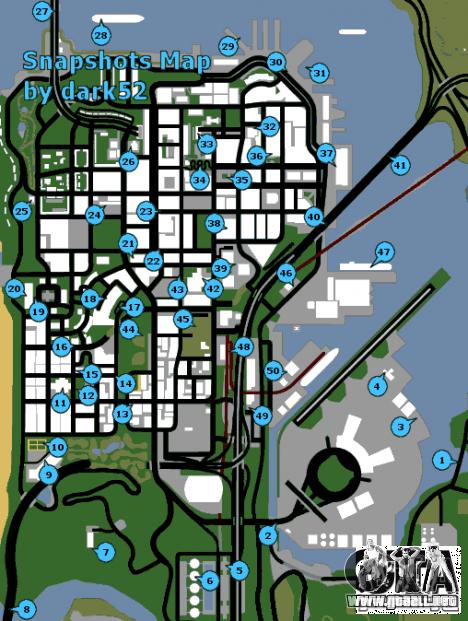 Mapa de fotos para GTA San Andreas