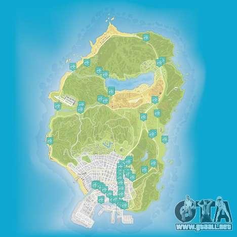 Mapa de los vuelos, bajo el puente en Grand Theft Auto 5