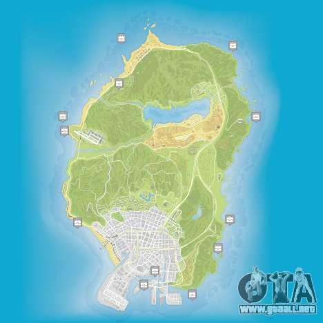Mapa de paquetes ocultos en Grand Theft Auto 5