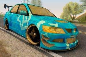 Mitsubishi Lancer Evolution IIIX Blue Star para GTA San Andreas