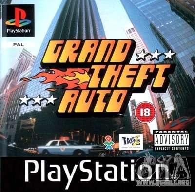 Comunicados de la década de los 90 GTA 1 para PS en Japón