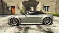 Dewbauchee Rapid GT Convertible de GTA 5 - vista lateral