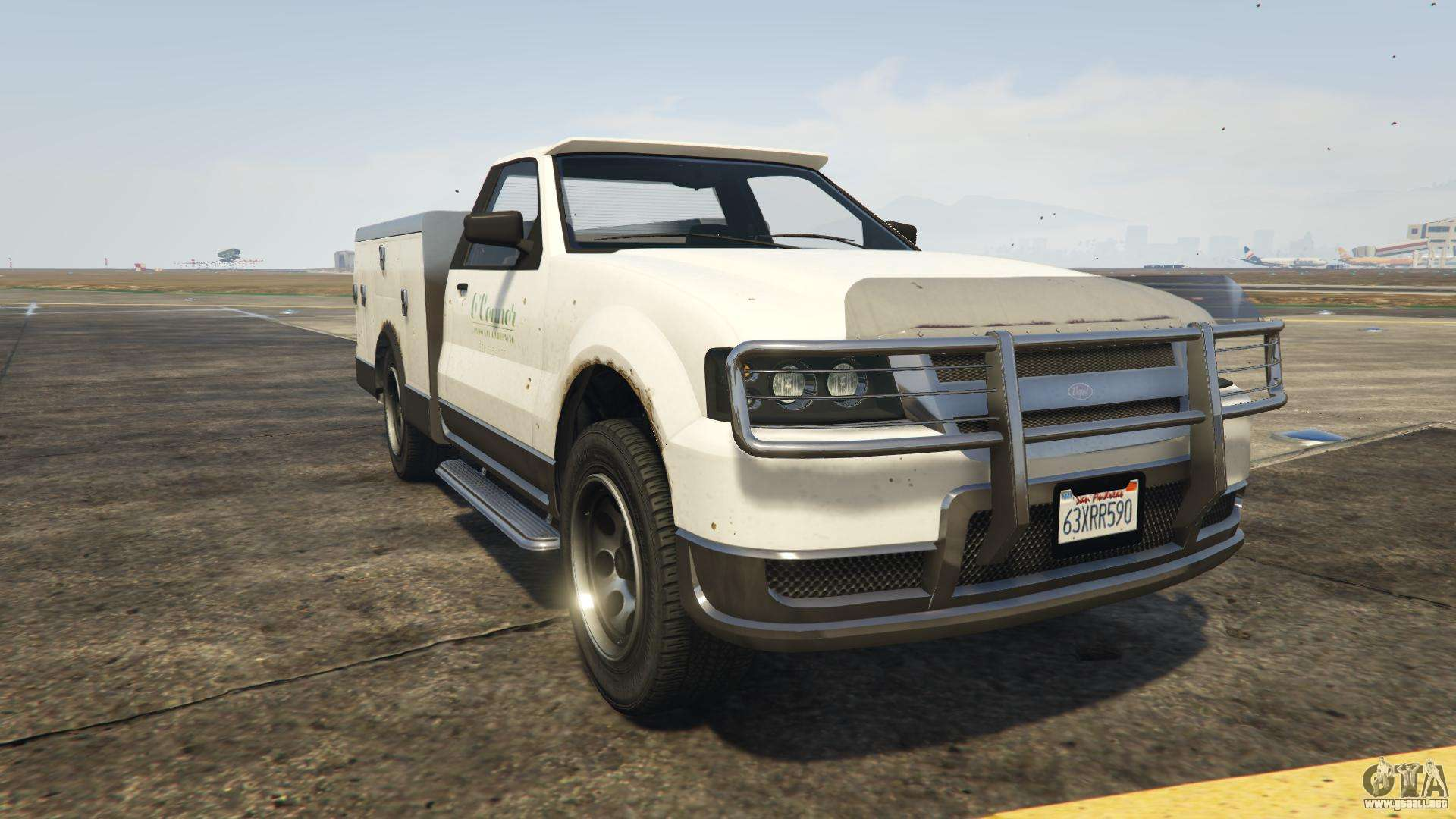 GTA 5 Vapid Utility Truck - vista frontal