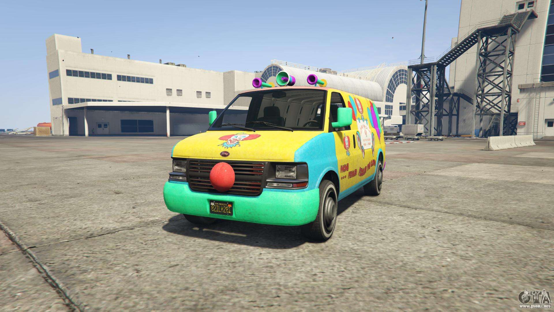 GTA 5 Vapid Clown Van - vista frontal