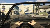 Invetero Coquette BlackFin de GTA 5: la vista desde la cabina