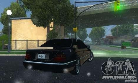 Mercedes-Benz 600SEC para GTA San Andreas vista posterior izquierda
