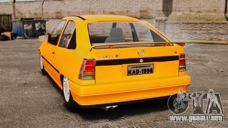 Opel Kadett GL 1.8 1996 para GTA 4 Vista posterior izquierda