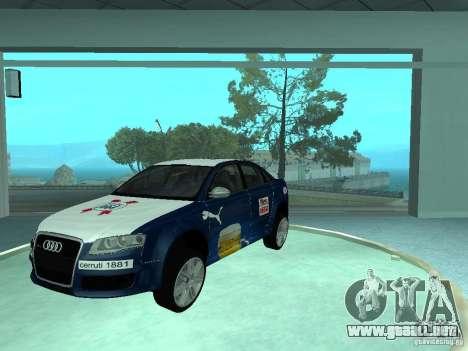 Audi RS4 para visión interna GTA San Andreas