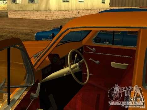 Taxi Moskvich 403 para la visión correcta GTA San Andreas