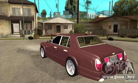 Bentley Arnage GT para GTA San Andreas vista posterior izquierda