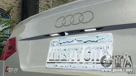 Audi RS6 2010 v1.1 para GTA 4 vista superior