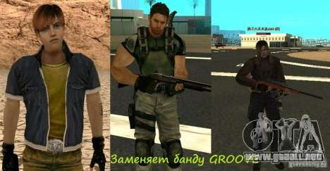 Pak personajes de Resident Evil para GTA San Andreas séptima pantalla