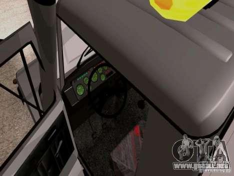 GAZ 3309 grúa para visión interna GTA San Andreas