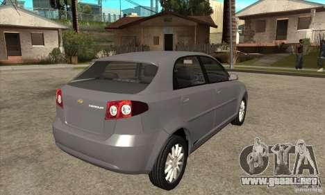 Chevrolet Optra 2011 Hatchback para la visión correcta GTA San Andreas