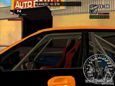 Subaru Impreza WRX Sti 2006 Elemental Attack para visión interna GTA San Andreas