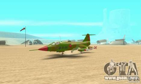 F-104 Starfighter Super (verde) para GTA San Andreas