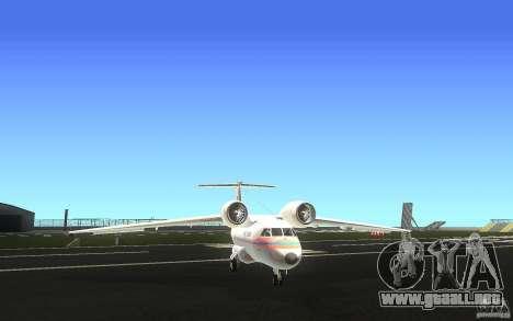 Antonov 74 para GTA San Andreas vista hacia atrás
