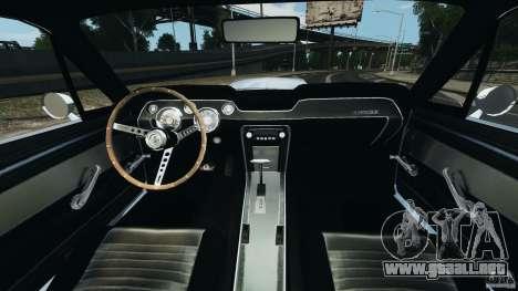 Shelby GT 500 Eleanor para GTA 4 vista hacia atrás
