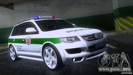 Volkswagen Touareg Policija para GTA San Andreas
