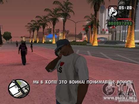 IPhone 4 g negro para GTA San Andreas tercera pantalla