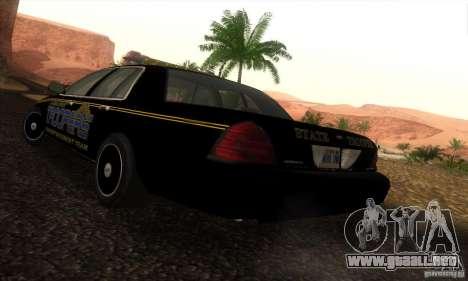 Ford Crown Victoria Alaska Police para GTA San Andreas left