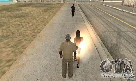 SuperClon (clonación personas en SAN ANDREAS) para GTA San Andreas segunda pantalla