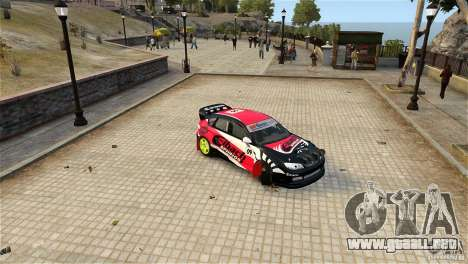 Subaru Impreza WRX STI Rallycross Eibach Springs para GTA 4 vista hacia atrás