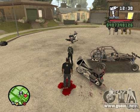 Sangue na tela v2 para GTA San Andreas