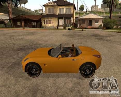 Pontiac Solstice GXP para GTA San Andreas vista hacia atrás