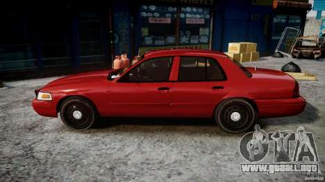 Ford Crown Victoria Detective v4.7 red lights para GTA 4 left