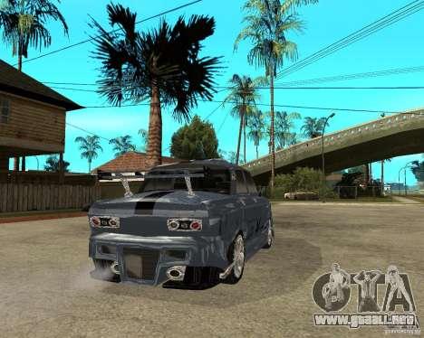 AZLK 2140 afinado SX para GTA San Andreas vista posterior izquierda
