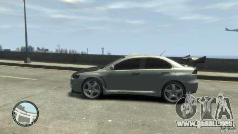 Mitsubishi Lancer Evo X Drift para GTA 4 visión correcta