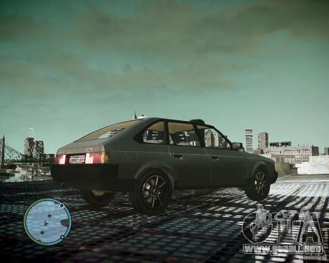 AZLK Moskvich 2141 para GTA 4 vista hacia atrás