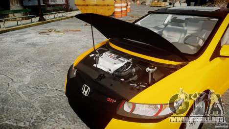 Honda Civic Si Coupe 2006 v1.0 para GTA 4 vista superior