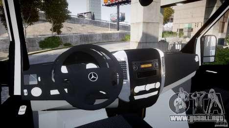 Mercedes-Benz Sprinter Iranian Ambulance [ELS] para GTA 4 visión correcta