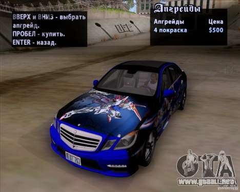 Mercedes-Benz E63 AMG V12 TT Black Revel para vista inferior GTA San Andreas