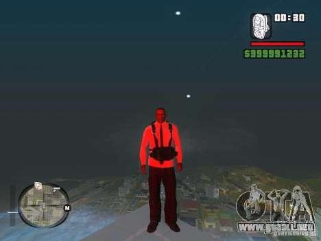 Camisas con corbata para GTA San Andreas sucesivamente de pantalla