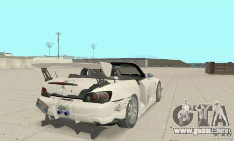 Honda S2000 Cabrio West Tuning para vista inferior GTA San Andreas