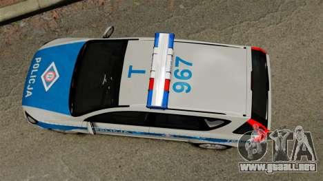 Kia Ceed 2011 SW Polish Police ELS para GTA 4 visión correcta