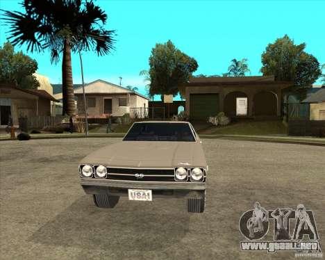 1969 Chevrolet Chevelle para GTA San Andreas vista hacia atrás