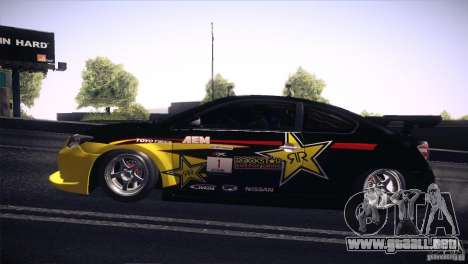 Scion TC Rockstar Team Drift para la visión correcta GTA San Andreas