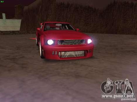Ford Mustang GT 2005 Tuned para el motor de GTA San Andreas