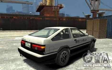 Toyota Sprinter Trueno AE86 para GTA 4 visión correcta