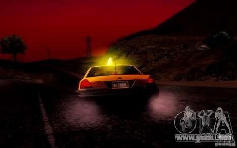 Ford Crown Victoria TAXI 2003 para la vista superior GTA San Andreas