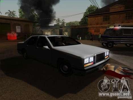 New Elegant para GTA San Andreas vista hacia atrás