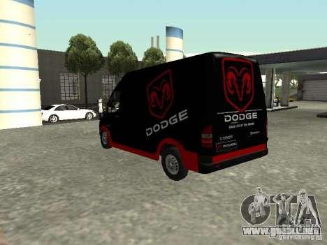Dodge Sprinter Van 2500 para GTA San Andreas left