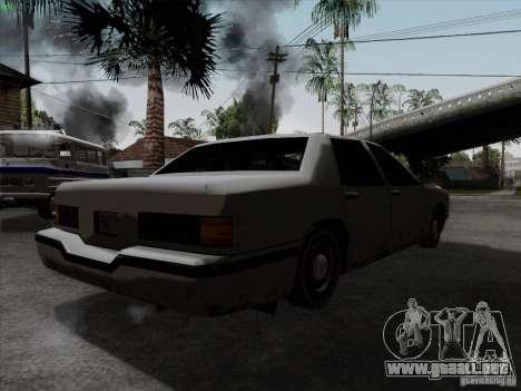 New Elegant para GTA San Andreas vista posterior izquierda