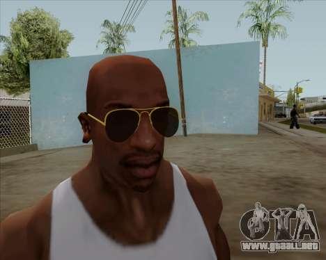Gafas de sol Aviator Brown para GTA San Andreas sucesivamente de pantalla