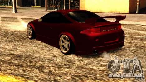 Mitsubishi Eclipse 1998 para GTA San Andreas vista posterior izquierda