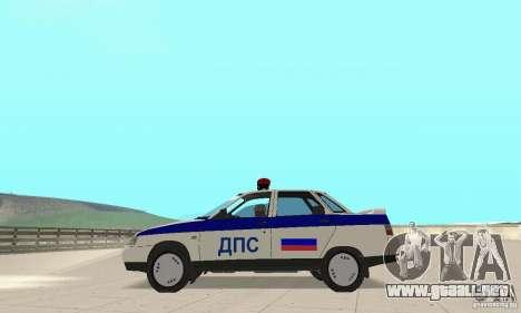 VAZ 2110 DPS para la visión correcta GTA San Andreas